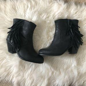 Black Sam Edelman Leather Booties 7W